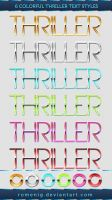 Thriller Text Styles by Romenig