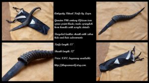 Antiquity Ritual Knife with vintage 19th c blade by lupagreenwolf