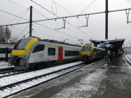 Ottignies 291214 Desiro-MLs in snow by kanyiko
