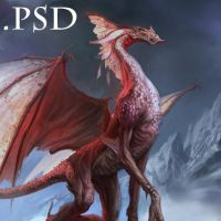 Red dragon PSD by Verehin