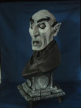 Nosferatu Bust painted 3 by Blairsculpture