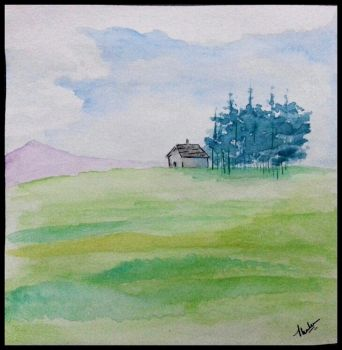 Simple Landscape..(Watercolor) by Thahaseen