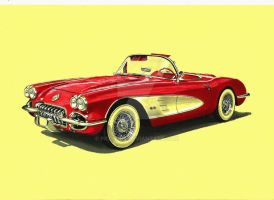 1958 Chevrolet Corvette by przemus