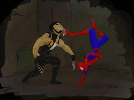 Spidermanvs.Wolverine.finish by r4nd0mpunk