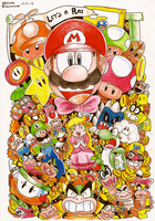 Adore Super Mario-Kun by MushroomWorldDrawer
