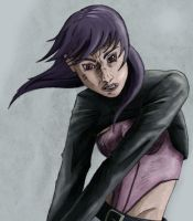 Motoko sketch, new techniques by BecciES