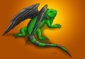 Draguana resting by Umberink