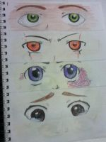 Set of eyes (page 1) by dawn-dreamer