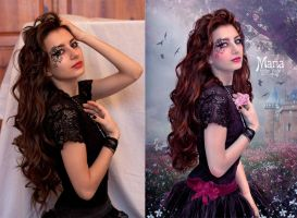Maria - Before and After by EstherPuche-Art