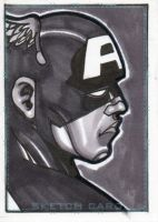 Captain America sketch card by jinn366