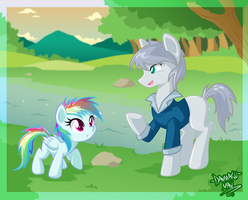 Commission: Silver And Dashie by DANMAKUMAN