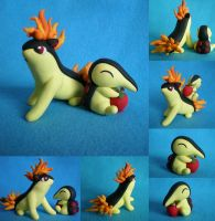 Commission: Cyndaquil::Quilava by Foureyedalien