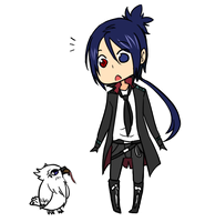 KHR - Mukuro and Owl by Rika-Wawa