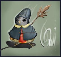 The magician Owl. by Chernobay