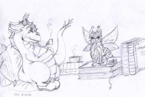 Sketch...Old Friends by WhimsicalWitch