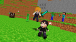 Even in Minecraft.. by hetalia-fanart