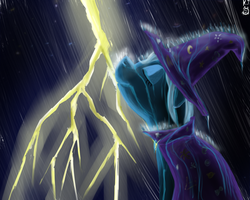 Trixie in the rain by lKittyTaill