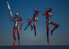 Red Robot. Sketchup+Vray. WIP by raskayu77