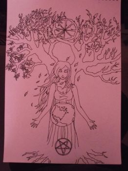 Wiccan Goddess, painting project part 2 by Melwyn018
