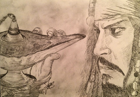 Captain Jack Sparrow finds the Magic Lamp by artefection