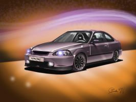 Honda Civic EJ8 by daftdance