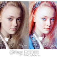 psd coloring01_dakota sunshine by SublimeArtDusT
