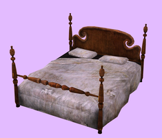Fallout Hotel Queen Bed XPS by Sasuke-Bby