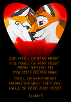 You'll be in my heart by bingles