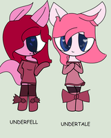 Underfell And Undertale Pinkie by pikagirl3552