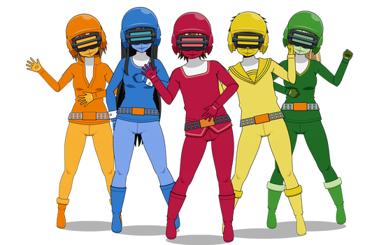Power Rangers/Super Sentai style costumes by Scratch62788
