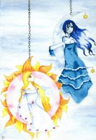 Sun and Moon - Art and Sonnet by enchantedviolin
