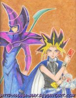 Dark Magician e Yami Yugi by Hana-May