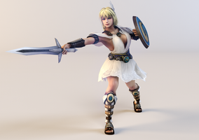 Sophitia Alexandra 3DS Render by x2gon