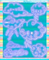 Cute Clouds Photoshop Brushes by Coby17
