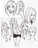 Amy Pond sketches by creepstown