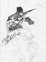 Batman - Drink'n'Draw april2nd2014 wip by SpiderGuile