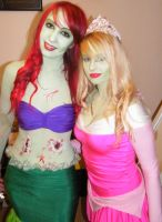 Zombie Ariel and Aurora by Lolanova