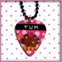 Cupcake Guitar Pick Necklace by SugarAndSpiceDIY