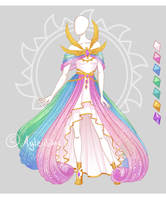 CLOSED Fashion adoptable auction ~ Celestial dress by Ayleidians