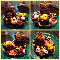 Halloween cakes by Brownie314