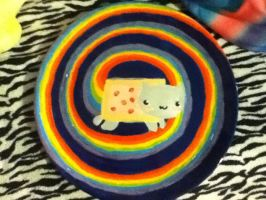 Nyan Plate (finished) by marbearcarebear