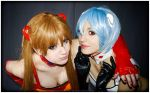 asuka x rei race queen by neliiell