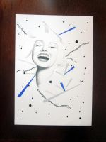 Marilyn Monroe Abstract Portrait Series -4 by deadmanvalley