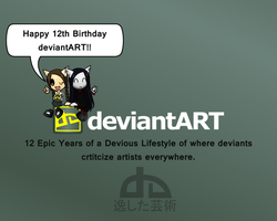 My Fanmade 12th Birthday deviantART Wallpaper by Maho-NakoDD