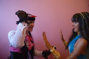 Mad Draculaura and Cleo. by adultchildren