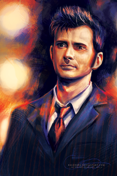 Day 4: The Tenth Doctor in the Tardis by Ralenore