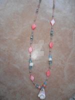 pink ocean Necklace by NamineEveningLight