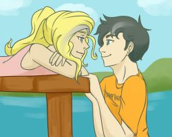 Just Another Day at Camp Half Blood by cookiekhaleesi