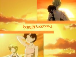 Haruhi and Tamaki Wallpaper by wind--alchemist
