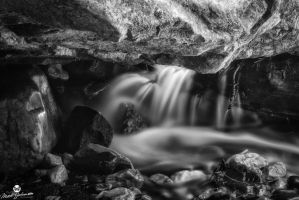 Under the Rock BW by mjohanson
